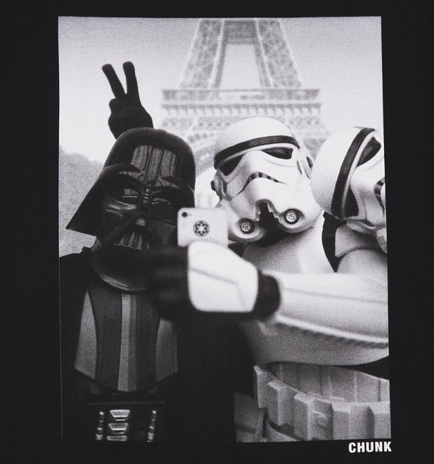 Men S Black Stormtrooper And Darth Vader Selfie Star Wars