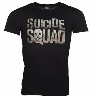 Men's Black Suicide Squad Logo T-Shirt