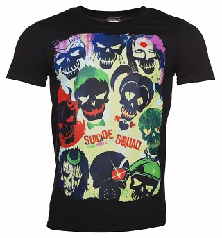 Men's Black Suicide Squad Poster T-Shirt