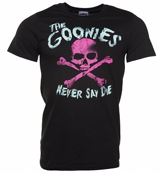 Men's Black The Goonies Never Say Die T-Shirt