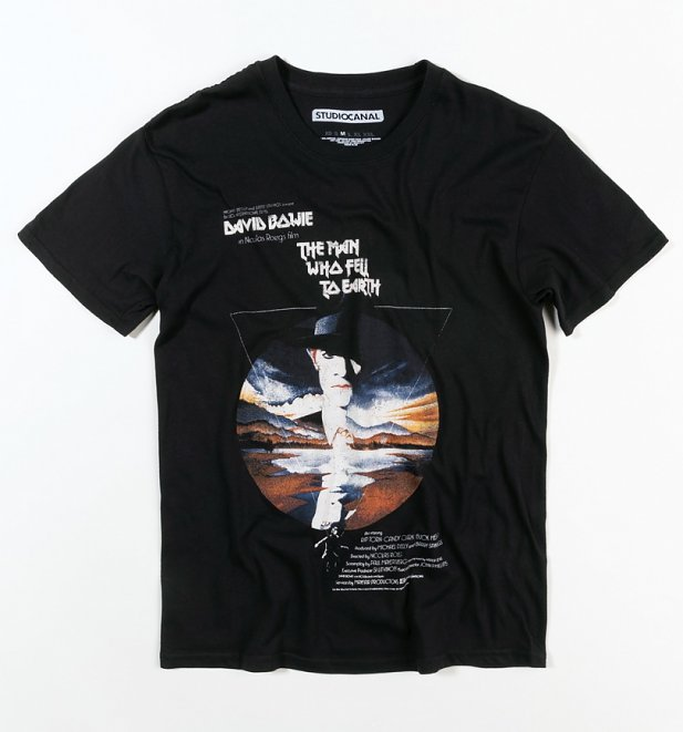 Men's Black The Man Who Fell To Earth Movie Poster T-Shirt