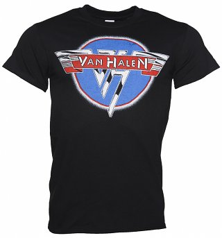 Men's Black Van Halen Chrome Logo T-Shirt