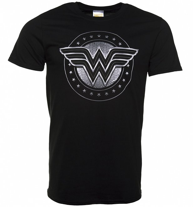 Men's Black Wonder Woman Movie Logo T-Shirt
