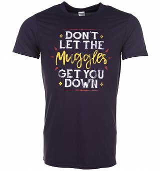 Men's Blackberry Don't Let The Muggles Get You Down Harry Potter T-Shirt