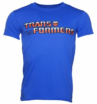 Men's Blue Classic Transformers Autobot Logo T-Shirt