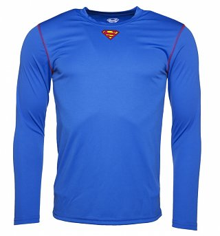 Men's Blue DC Comics Superman Long Sleeve Performance T-Shirt
