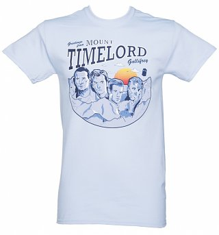 Men's Blue Doctor Who Mount Timelord T-Shirt