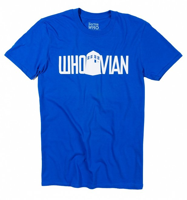 Men's Blue Doctor Who Whovian T-Shirt