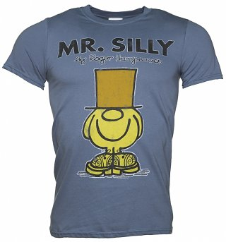 Men's Blue Mr Men Mr Silly T-Shirt