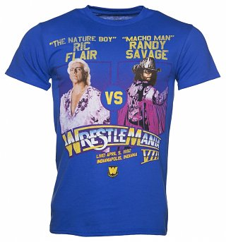 Men's Blue Ric Flair Vs Macho Man WrestleMania T-Shirt