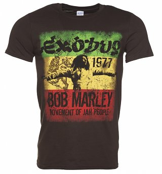 Men's Brown Bob Marley Exodus T-Shirt