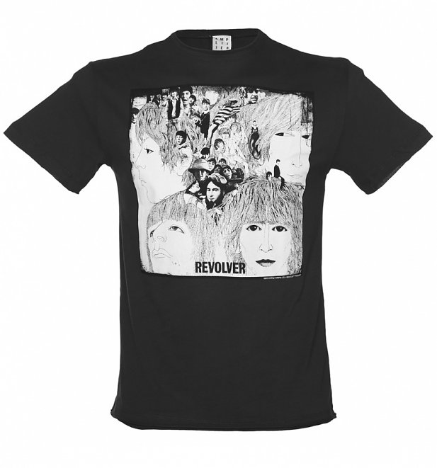Men's Charcoal Beatles Revolver T-Shirt from Amplified
