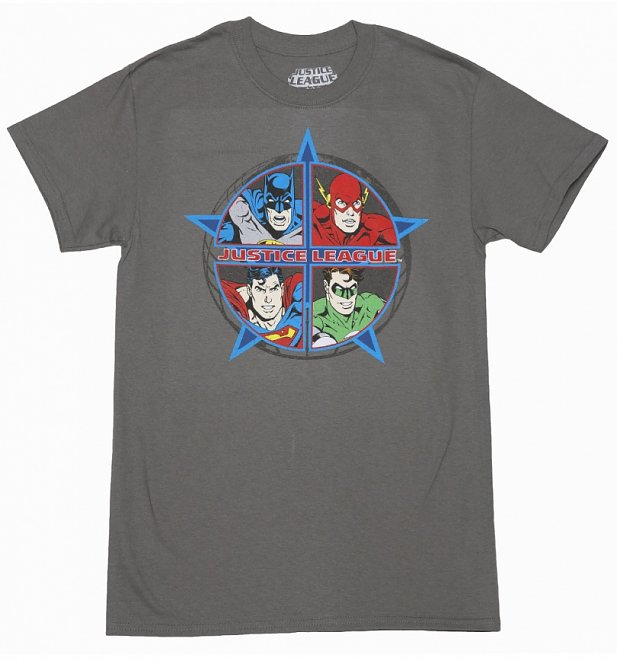 Men's Charcoal DC Comics Justice League T-Shirt