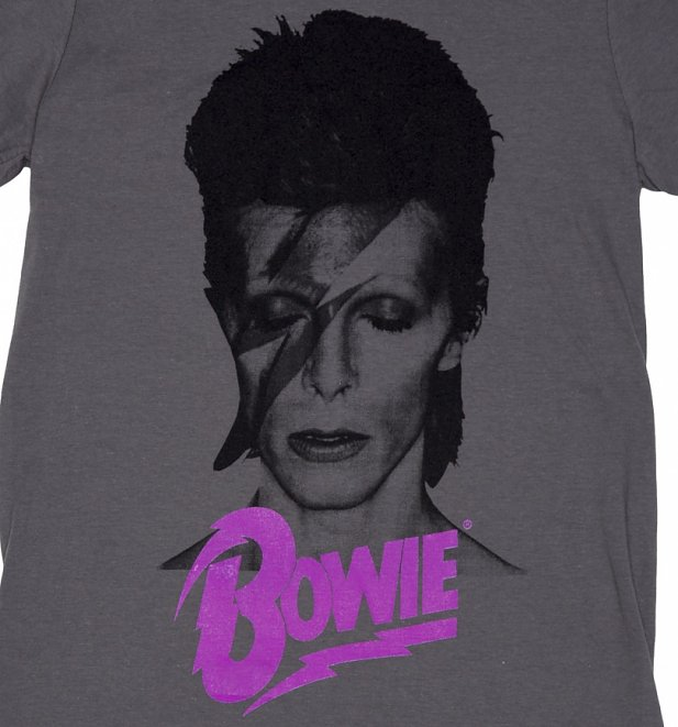 Men's Charcoal David Bowie Aladdin Sane T-Shirt