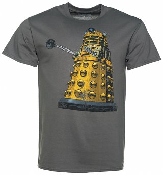 Men's Charcoal Doctor Who Distressed Dalek T-Shirt