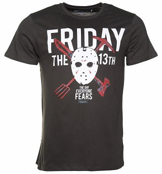 Men's Charcoal Friday The 13th T-Shirt