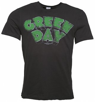 Men's Charcoal Green Day Logo T-Shirt from Amplified