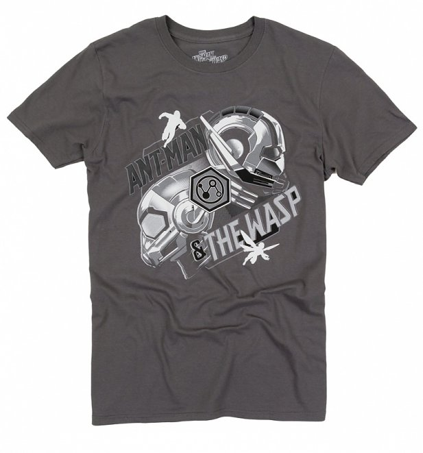 Men's Charcoal Grey Ant-Man And The Wasp Heads T-Shirt