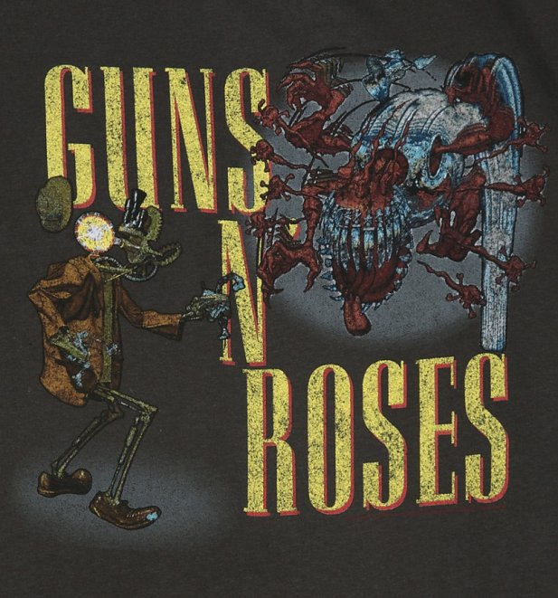 Men's Charcoal Guns N' Roses Appetite Attack T-Shirt from Amplified