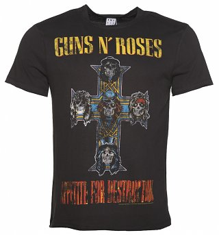 Men's Charcoal Guns N' Roses Appetite For Destruction T-Shirt from Amplified