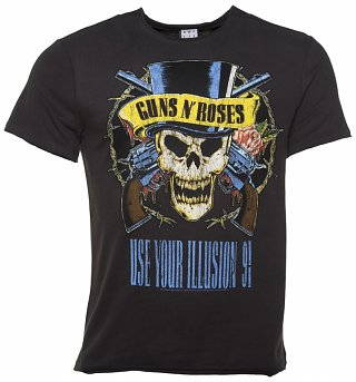 Men's Charcoal Guns N' Roses Use Your Illusion T-Shirt from Amplified