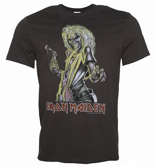 Men's Charcoal Iron Maiden Killers T-Shirt from Amplified