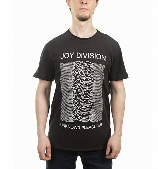 Men's Charcoal Joy Division Unknown Pleasures T-Shirt from Amplified