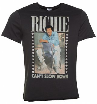 Men's Charcoal Lionel Richie Can't Slow Down T-Shirt from Amplified