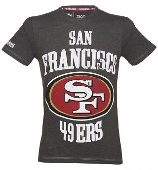 Men's Charcoal Marl San Francisco 49ers NFL T-Shirt