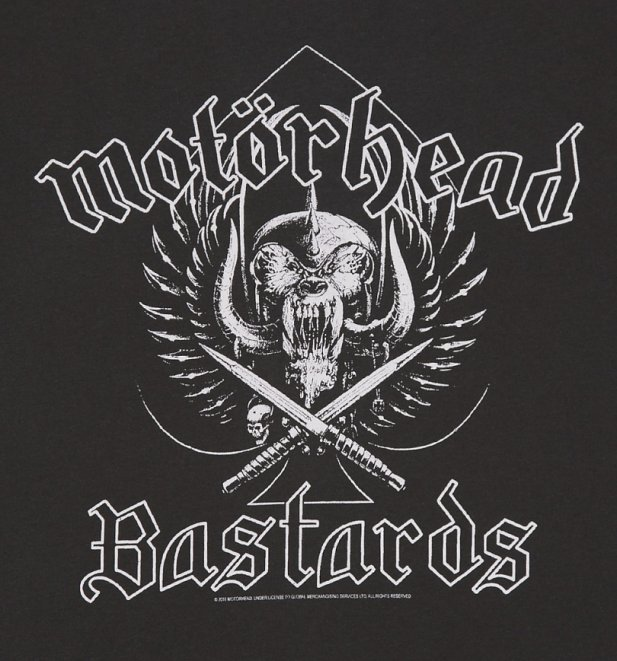 Men's Charcoal Motorhead Bastards T-Shirt from Amplified