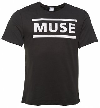 Men's Charcoal Muse Logo T-Shirt from Amplified
