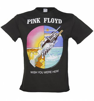 Men's Charcoal Pink Floyd Wish You Were Here T-Shirt from Amplified