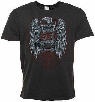 Men's Charcoal Slayer Metal Eagle T-Shirt from Amplified