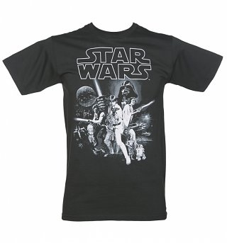 Men's Charcoal Star Wars A New Hope T-Shirt