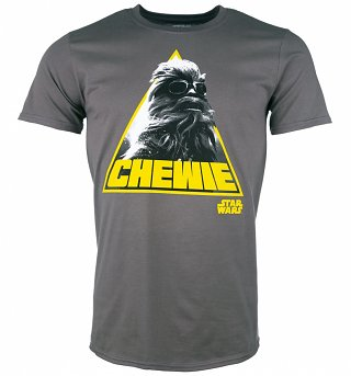 Men's Charcoal Star Wars Retro Chewie T-Shirt