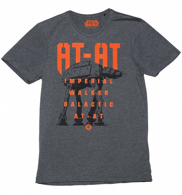 Men's Charcoal Star Wars Rogue One AT-AT T-Shirt
