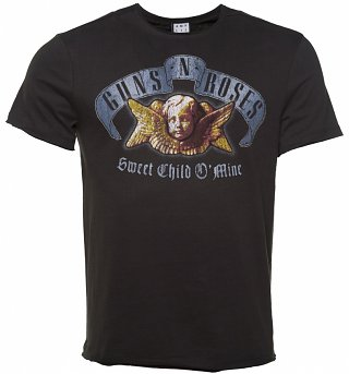 Men's Charcoal Sweet Child O' Mine Angel T-Shirt from Amplified