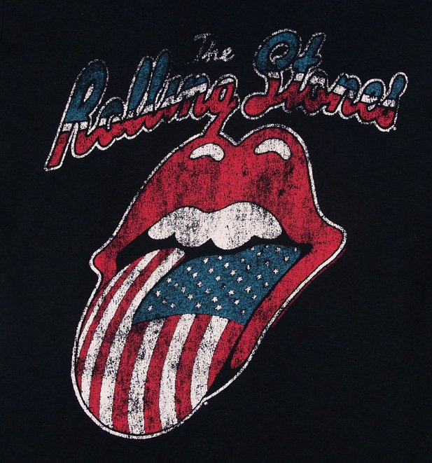 Men's The Rolling Stones US Tongue Logo T-Shirt