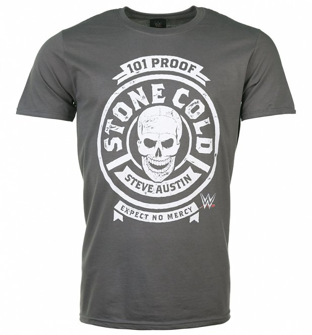 Men's Charcoal WWE Stone Cold 101 Proof T-Shirt