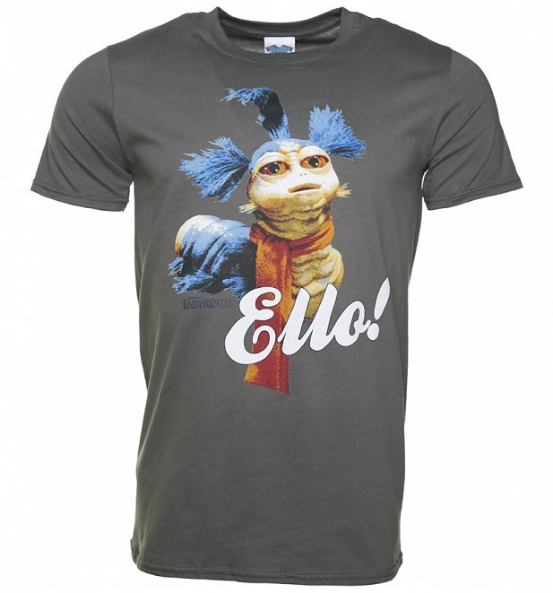 Men's Charcoal Worm Ello Labyrinth T-Shirt