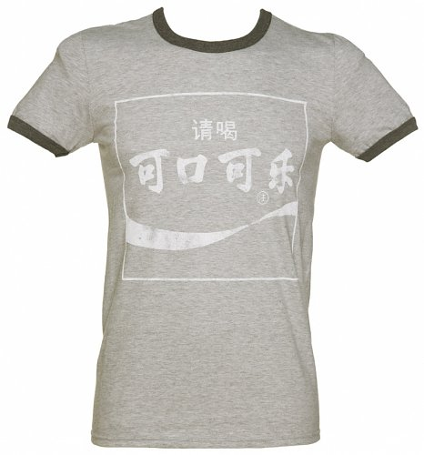 Men's Coca-Cola Chinese Logo Ringer T-Shirt