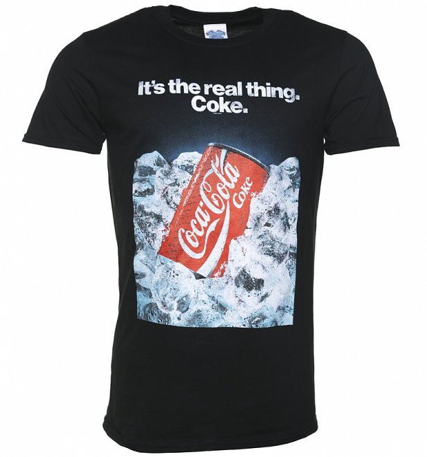 Men's Coca-Cola Retro Advert Black T-Shirt