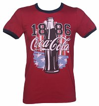 Men's Coca-Cola US Flag Ringer T-Shirt
