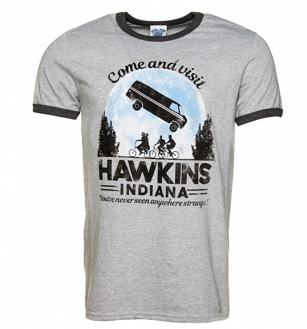 Come and Visit Hawkins Indiana Stranger Things Inspired Ringer T-Shirt