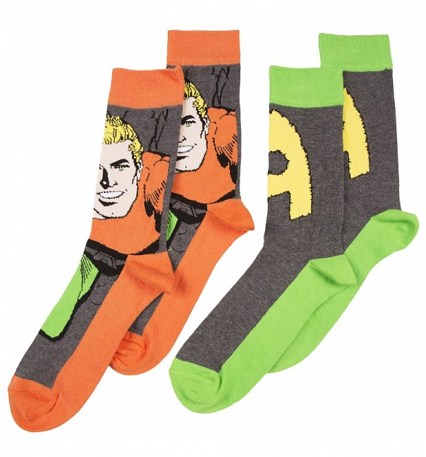 Men's DC Comics Aquaman Pack Of 2 Socks
