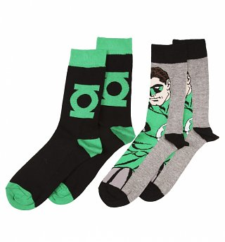Men's DC Comics Green Lantern Pack Of 2 Socks