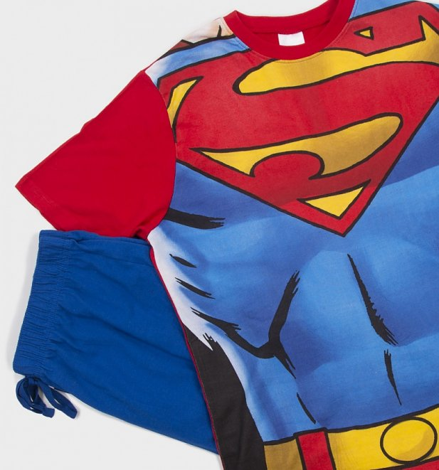 Men's DC Comics Superman Costume Pyjamas
