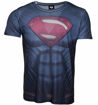 Men's DC Comics Superman Costume Sublimation T-Shirt