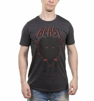 Men's Dark Grey Marl Beast Beauty And The Beast Disney T-Shirt