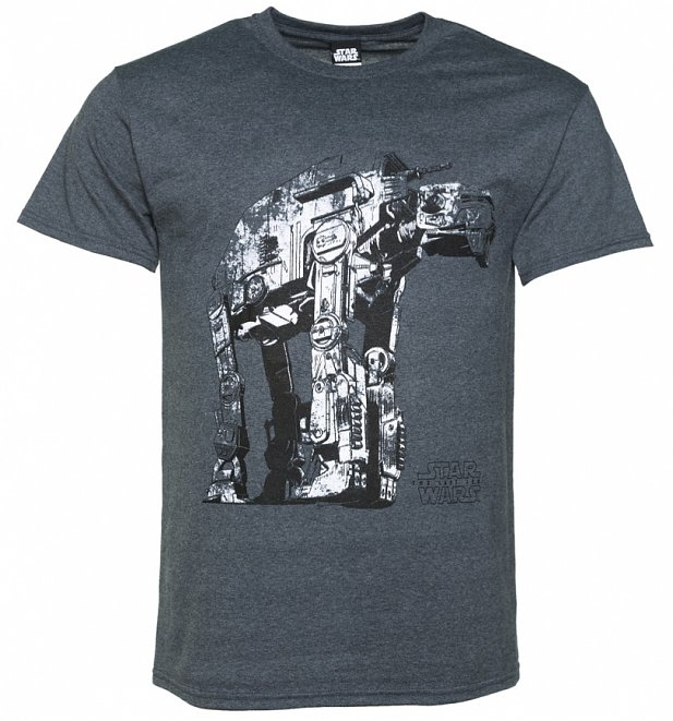 Men's Dark Grey Marl Star Wars VIII The Last Jedi Gorilla Walker T-Shirt